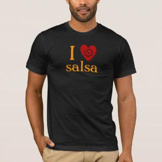 I Love Salsa Swirls Heart Dancing Tee Shirt