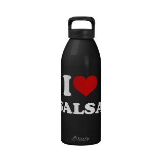 I Love Salsa Water Bottle