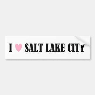 I LOVE SALT LAKE CITY BUMPER STICKER