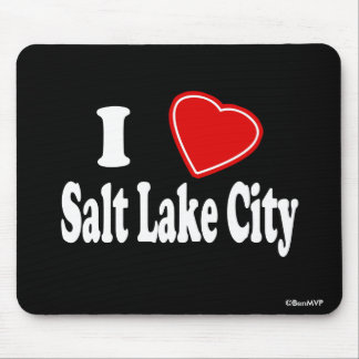I Love Salt Lake City Mouse Pad