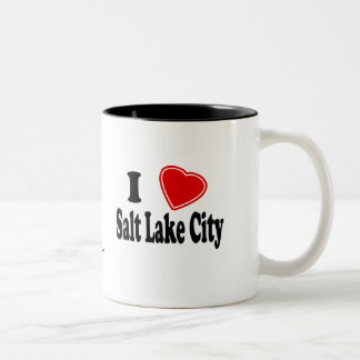 I Love Salt Lake City Two-Tone Coffee Mug