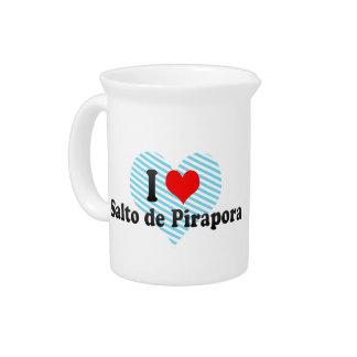 I Love Salto de Pirapora, el Brasil Jarra De Beber