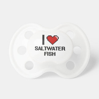 I love Saltwater Fish Digital Design BooginHead Pacifier