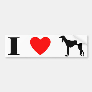 I Love Salukis Bumper Sticker
