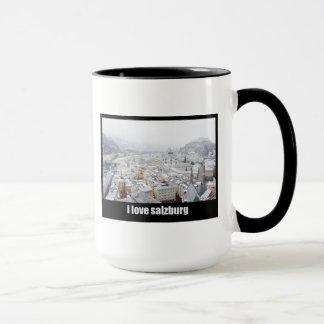 I Love Salzburg (Austria) Ringer Mug