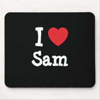 I love Sam heart custom personalized Mouse Pad