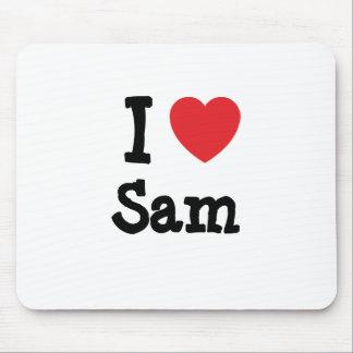 I love Sam heart T-Shirt Mouse Mat