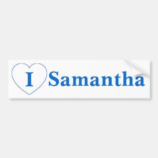 I Love Samantha (BpS) Bumper Sticker