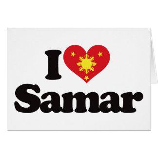 I Love Samar Card