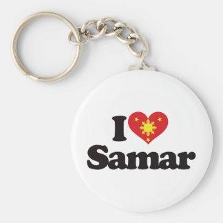 I Love Samar Basic Round Button Keychain