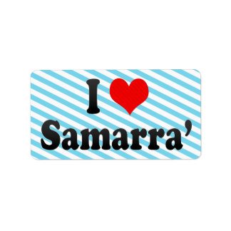 I Love Samarra', Iraq Custom Address Label