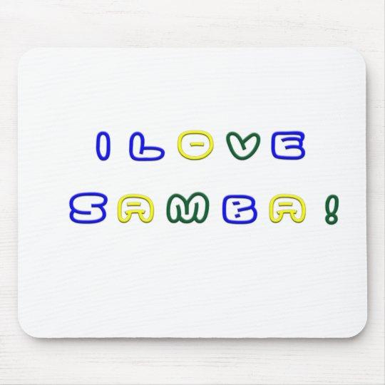 I Love Samba Mouse Pad