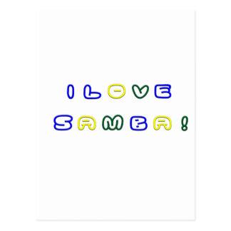 I Love Samba Postcard