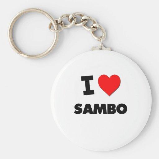 I Love Sambo Key Chains