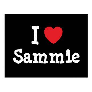 I love Sammie heart custom personalized Postcards