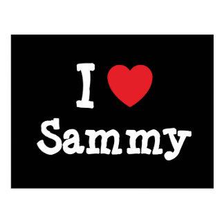 I love Sammy heart T-Shirt Post Cards