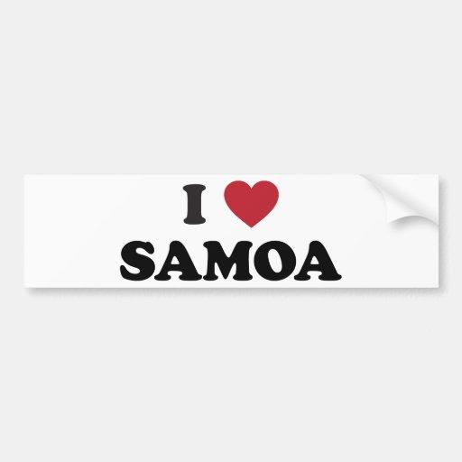 I Love Samoa Bumper Sticker