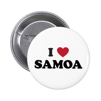 I Love Samoa Pinback Button