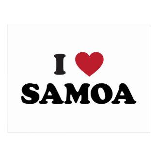 I Love Samoa Postcard