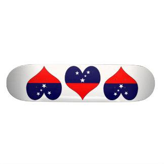 I Love Samoa Custom Skateboard