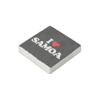 I LOVE SAMOA STONE MAGNET