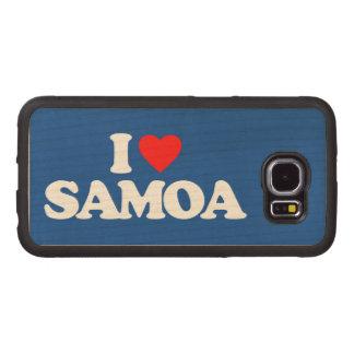 I LOVE SAMOA WOOD PHONE CASE