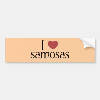 I love samosas bumper sticker