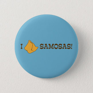 I Love Samosas Pinback Button