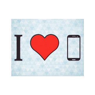 I Love Samsung Phones Canvas Print