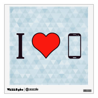 I Love Samsung Phones Wall Sticker