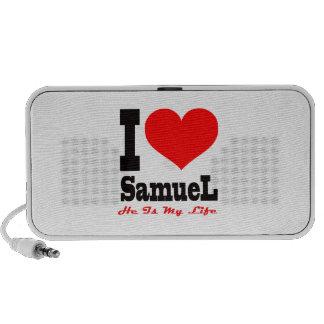 I Love Samuel He Is My Life iPod Speakers