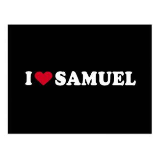 I LOVE SAMUEL POSTCARD