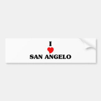 I love San Angelo Car Bumper Sticker