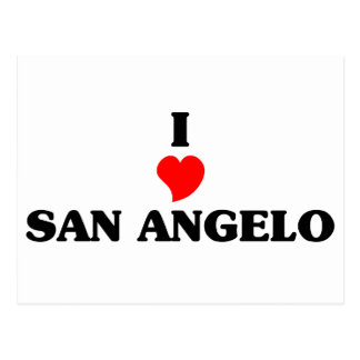 I love San Angelo Postcard