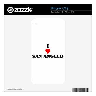 I love San Angelo iPhone 4 Decal