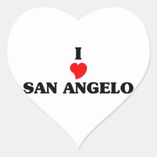 I love San Angelo Heart Sticker