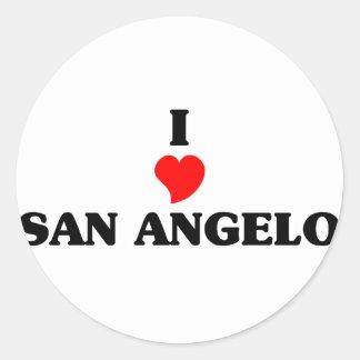 I love San Angelo Classic Round Sticker