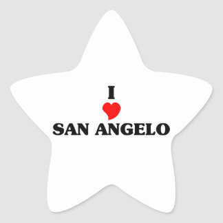 I love San Angelo Star Sticker