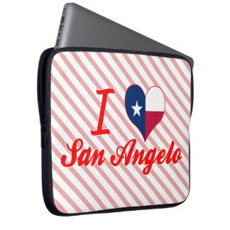 I Love San Angelo, Texas Laptop Computer Sleeve