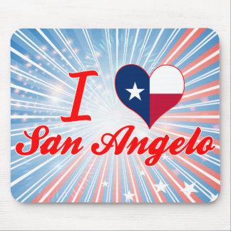 I Love San Angelo, Texas Mouse Pad