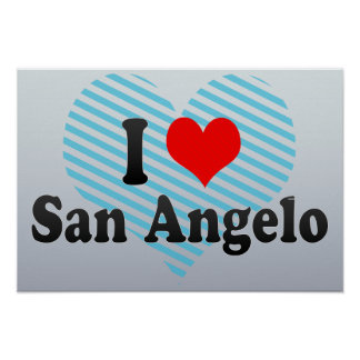 I Love San Angelo, United States Posters