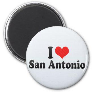 I Love San Antonio 2 Inch Round Magnet