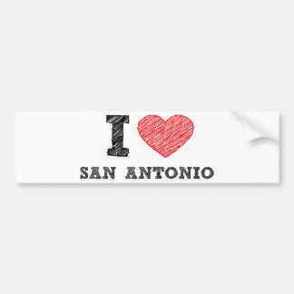 I Love San Antonio Bumper Sticker