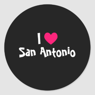 I Love San Antonio Classic Round Sticker