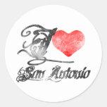 I Love San Antonio Round Stickers