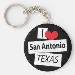 I Love San Antonio Texas Keychain