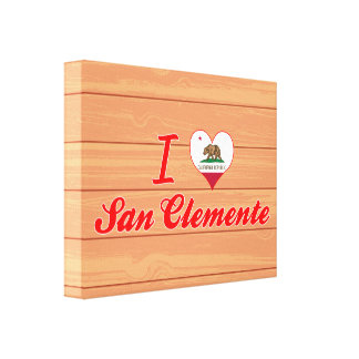 I Love San Clemente California Stretched Canvas Prints