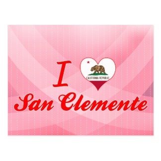 I Love San Clemente, California Postcard
