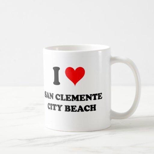 I Love San Clemente City Beach California Mug