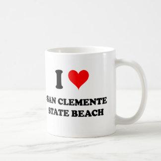 I Love San Clemente State Beach California Classic White Coffee Mug